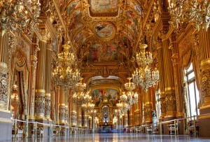 The golden interior of Opera Garnier in Paris
