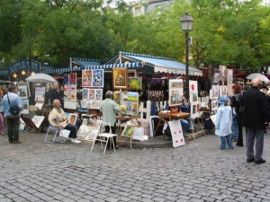Go to see Montmartre and place du Tertre during your one day in Paris itinerary