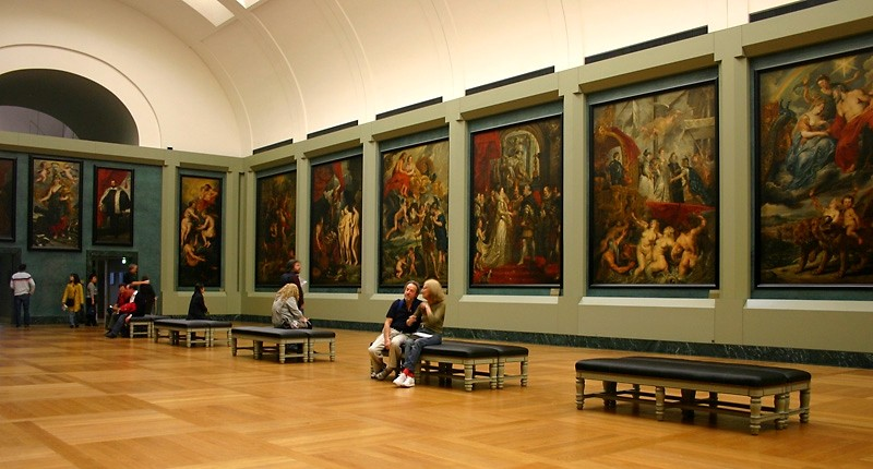 Exhibition in Le Louvre museum