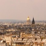 Paris view from Notre Dame showing Eiffel Tower, Paris roofs and Paris skyline, Eiffel Tower Information