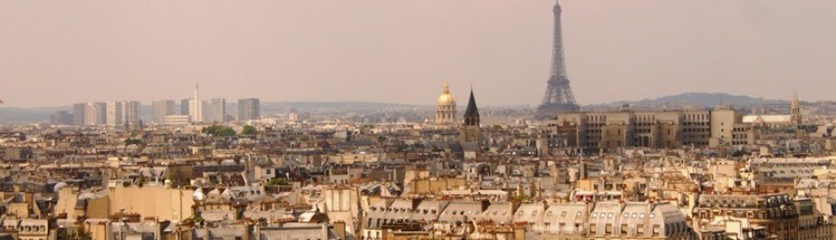 Paris view from Notre Dame showing Eiffel Tower, Paris roofs and Paris skyline, Eiffel Tower Information