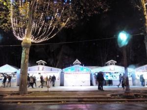 visit paris and france Marché de Noël sur les CHamps Elysées