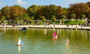 Weekend trip to Paris, the Luxembourg Garden of Paris, France