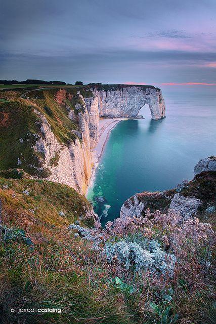Normandy, Cliffs, Daytour, France