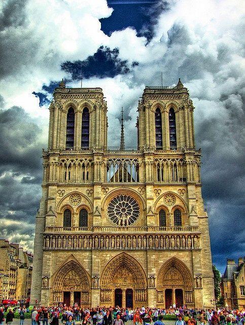 Notre Dame, Paris, Skies