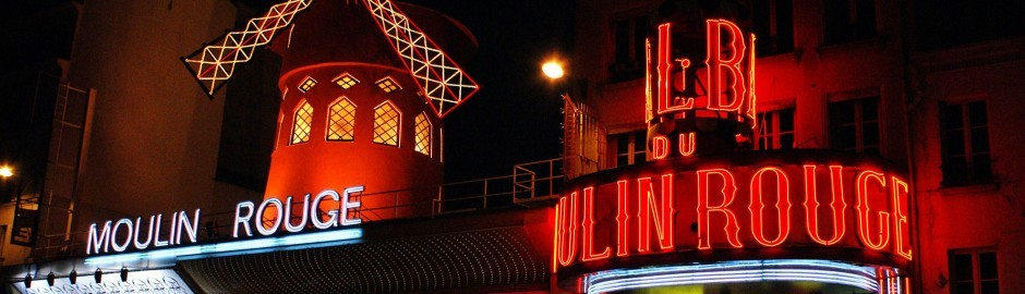 Moulin Rouge Paris, Cabaret Performance At The Moulin Rouge!