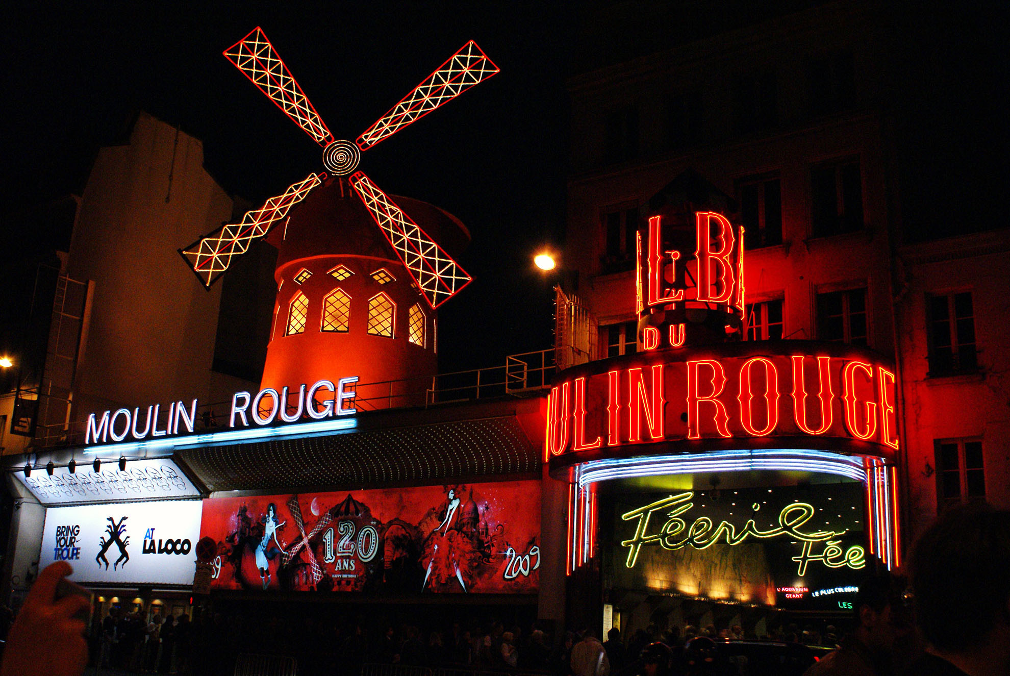 Cabaret Performance At The Moulin Rouge Parisbym