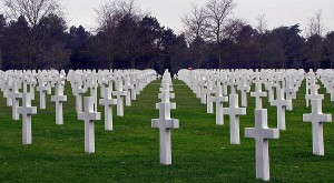 American Cemetery, 5 beaches of Normandy