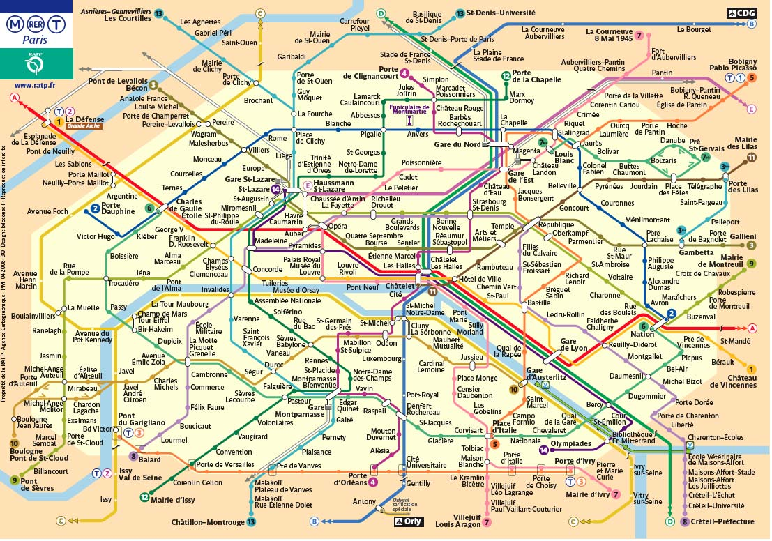 Paris, metro, transportation, school trips to Paris, metro tickets paris