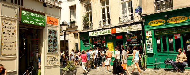 Self-Guided walking tour, le marais, budget accommodation in Paris