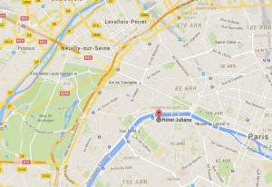 Hotels close to the Eiffel Tower and the River Seine