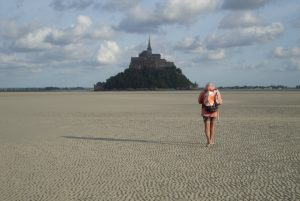 Mont Saint Michele with low tide