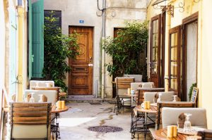 Bistro Chairs Dining Tables Eat Provence France, paris-food