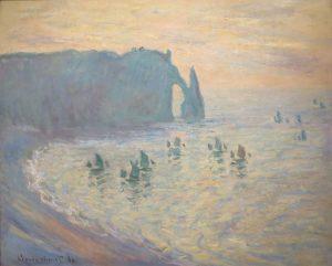 etretat cliffs, impressionism