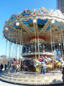carousel, valentine's day, paris
