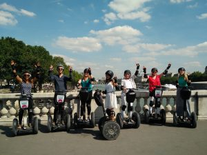 segway, unusual ways to tour, paris, Paris group