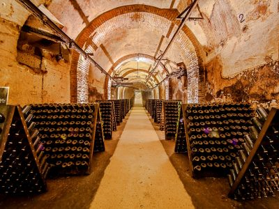 Champagne houses in Reims